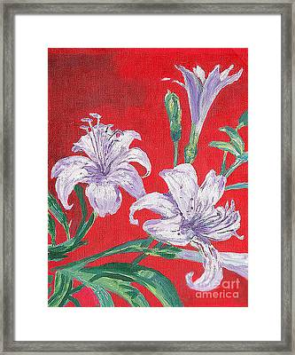 Flowers Framed Print by Kostas Dendrinos