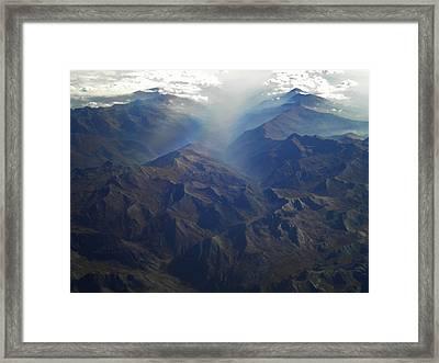 Flying Over The Alps In Europe Framed Print