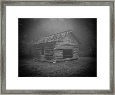 Foggy Mountain Morning Framed Print by Victoria Ashley
