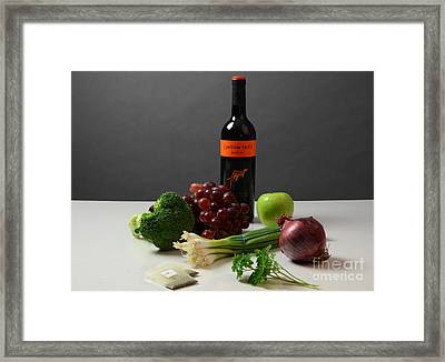 Foods Rich In Quercetin Framed Print by Photo Researchers, Inc.