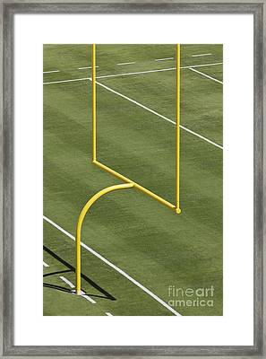 Football Goal Post Framed Print by Jeremy Woodhouse