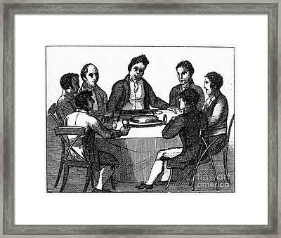 Franklin: Way To Wealth Framed Print by Granger