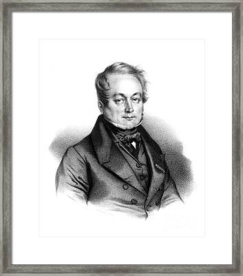 Fran�ois Magendie, French Physiologist Framed Print