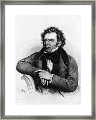 Franz Peter Schubert, Austrian Composer Framed Print by Omikron