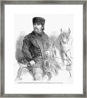 Franz Sigel (1824-1902) Framed Print by Granger