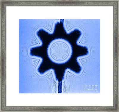 Fresnel Diffraction Pattern Framed Print by Omikron