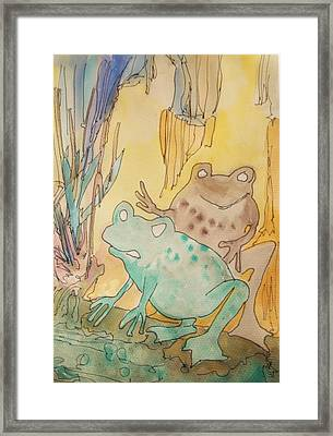 2 Frogs Framed Print by James Christiansen