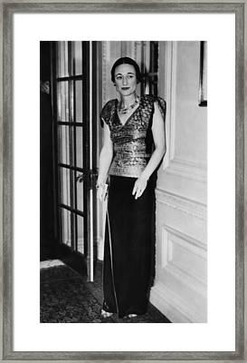 Future Duchess Of Windsor Wallis Framed Print by Everett