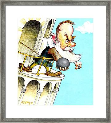 Galileo's Falling Bodies Experiment Framed Print by Gary Brown