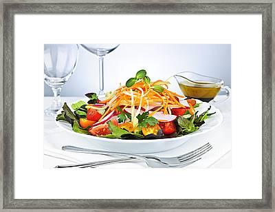 Garden Salad Framed Print by Elena Elisseeva