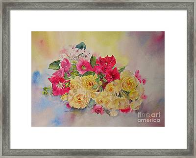 Framed Print featuring the painting Garden's Delight by Beatrice Cloake
