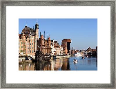 Gdansk In Poland Framed Print by Artur Bogacki