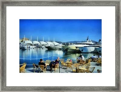 Genova Salone Nautico Internazionale - Genoa Boat Show Framed Print