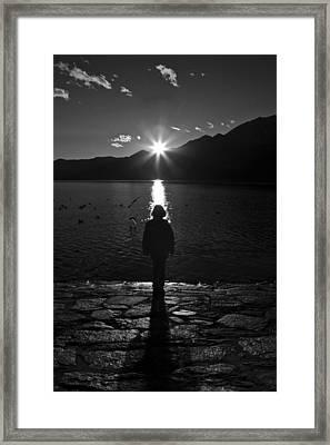 Girl With Sunset Framed Print by Joana Kruse