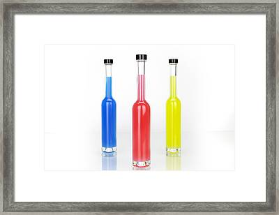 Glass Bottles Framed Print by Joana Kruse