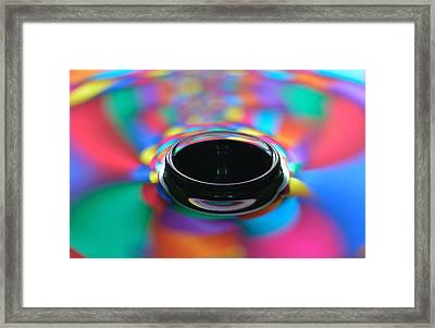 Glassy Harlequin Droplets Framed Print