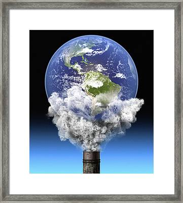 Global Warming, Conceptual Image Framed Print by Roger Harris