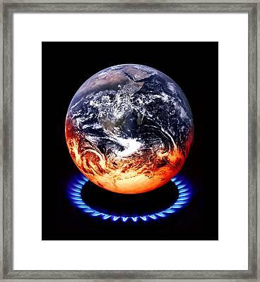 Global Warming, Conceptual Image Framed Print by Victor De Schwanberg