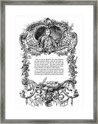 Goethe: Werther Framed Print by Granger