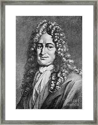Gottfried Wilhelm Leibniz, German Framed Print