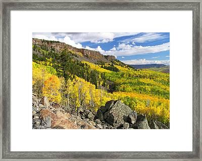 Grand Mesa Autumn Vista Framed Print