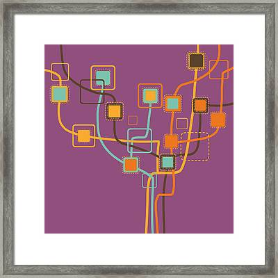 Graphic Tree Pattern Framed Print by Setsiri Silapasuwanchai