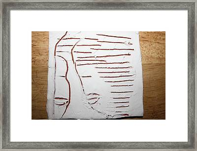 Greeting - Tile Framed Print by Gloria Ssali
