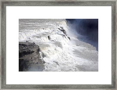 Framed Print featuring the photograph Gullfoss by David Harding
