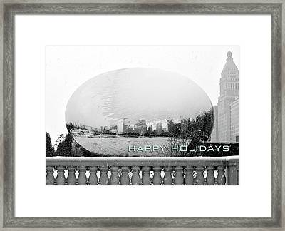 Happy Holidays From Chicago Framed Print