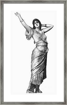 Harem Woman, 19th Century Framed Print by Granger
