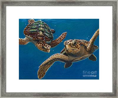 Hattie And A Friend Framed Print by Deb LaFogg-Docherty