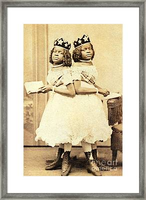 2 Headed Girl Millie-chrissie Framed Print by Photo Researchers