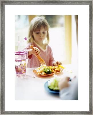 Healthy Eating Framed Print by Ian Boddy