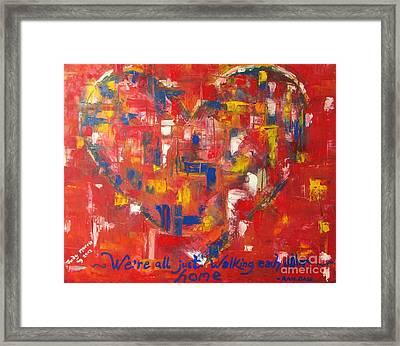 Heart Framed Print by Judy Morris