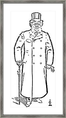 Henrik Ibsen (1828-1906) Framed Print