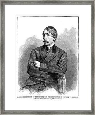 Henry Bergh (1811-1888) Framed Print