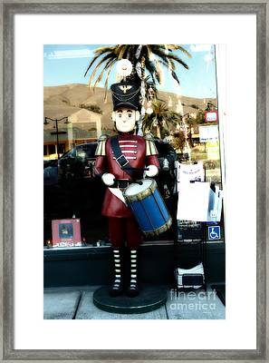 Historic Niles District In California Near Fremont . Little Drumer Boy At The Vine . 7d10691 Framed Print by Wingsdomain Art and Photography