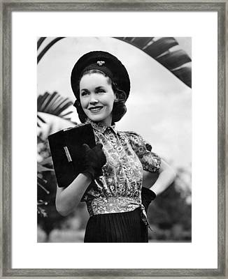Hold That Kiss, Maureen Osullivan, 1938 Framed Print