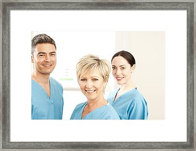 Hospital Staff Framed Print by