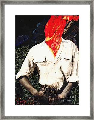 Hot Head Framed Print