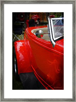 Hot Rod Red Ford Framed Print by SM Shahrokni