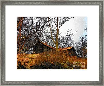 House On The Hill Framed Print by Joyce Kimble Smith