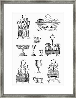 Housewares, 19th Century Framed Print by Granger