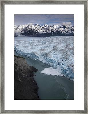 Hubbard Glacier Encroaching On Gilbert Point Framed Print by Matthias Breiter