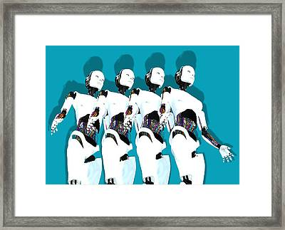 Humanoid Robots, Artwork Framed Print by Victor Habbick Visions
