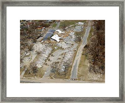 Hurrican Katrina Damage Framed Print by Science Source