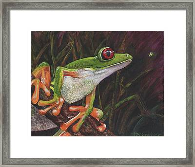 Framed Print featuring the painting I See You by Pauline  Kretler