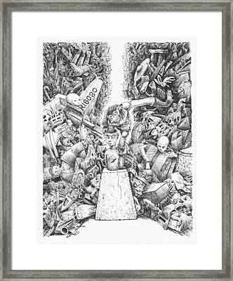 I Still Haven't Found What I'm Looking For Framed Print by Canis Canon