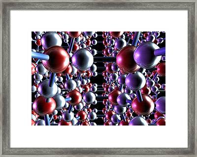 Ice, Molecular Model Framed Print by Animate4.comscience Photo Libary