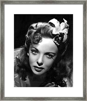 Ida Lupino, Portrait Framed Print